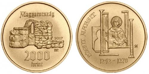 Árpád-házi Szent Margit - színesfém érme