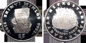 Zrinyi Miklós halálának 400. évfordulója - ezüstérme