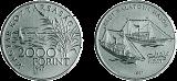 Régi Balatoni hajók - Helka és Kelén 1891 - ezüstérme
