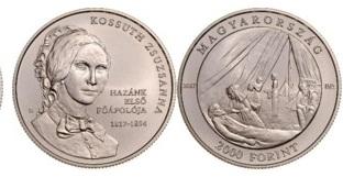 Kossuth Zsuzsanna születésének 200. évfordulójára - színesfém érme