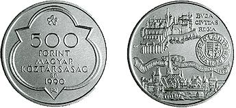 1990 MÁTYÁS KIRÁLY HALÁLÁNAK 500. ÉVFORDULÓJA - EZÜSTÉRME