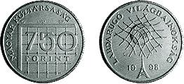 Labdarúgó Világbajnokság - Franciaország 1998 - ezüstérme