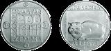 Természetvédelmi érmesor - macska - ezüstérme