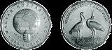 Veszélyeztetett állatvilág - Fehér gólya - ezüstérme