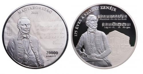 A Szózat megzenésítésének 175. évfordulója - Ag ezüstérme