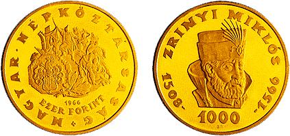 Zrinyi Miklós halálának 400. évfordulója - aranyérme