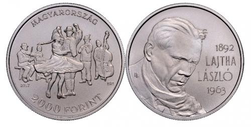 Lajtha László születésének 125. évfordulója - színesfém érme