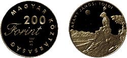 2001 MAGYAR IFJÚSÁGI IRODALOM - ARANY JÁNOS - SZINESFÉM ÉRME