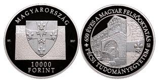 Pécsi Tudományegyetem Alapításának 650. évfordulója - ezüstérme