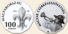 Magyar Cserkészszövetség - szinesfém érme