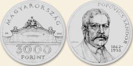 Popovics Sándor - ezüstérme