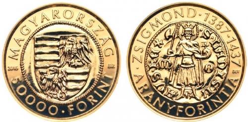 Zsigmond (1368-1437) aranyforintja  - Aranyérme