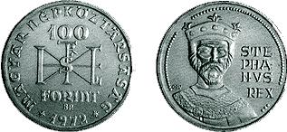 I. István születésének 1 000. évfordulója - ezüstérme