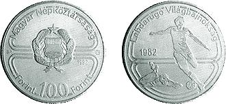 1982 1982. ÉVI LABDARÚGÓ VILÁGBAJNOKSÁG - SPANYOLORSZÁG - SZINESFÉM ÉRME