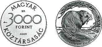 2000 VESZÉLYEZTETETT ÁLLATVILÁG - EURÓPAI HÓD - EZÜSTÉRME