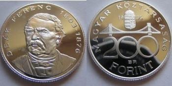 Deák Ferenc 200 Forintoa - Ezüst